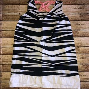 Gymboree Zebra Sleeveless Black White Dress Sz 5
